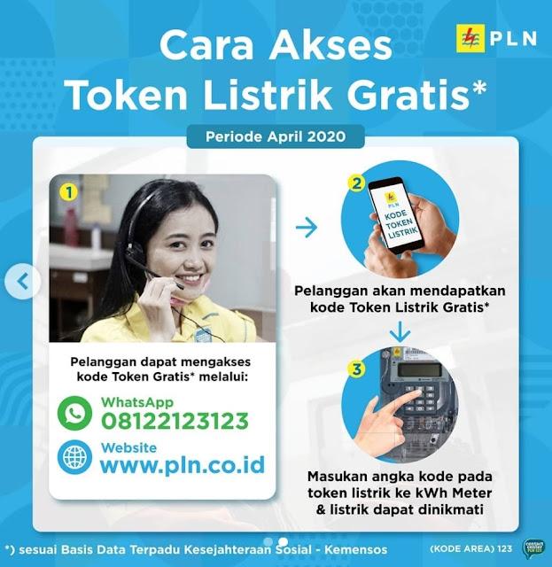 3 Cara Mendapatkan Token Gratis PLN, Akses di www.pln.co.id, Instagram @pln_id dan Chat WhatsApp