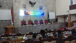 DPRD Kab Cirebon Rapat Paripurna Pertanggungjawaban APBD 2018