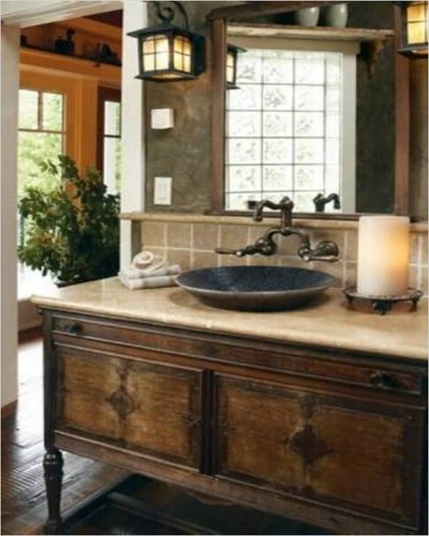 Bathroom Vanity With Bowl Sink Home Interior Exterior Decor