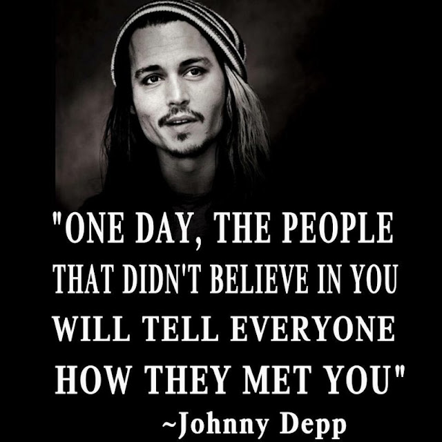 Johnny Depp  motivational quote