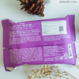 Ingredients Ariul Peeling Toner Pad