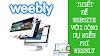 Cách Thiết Kế Website Miễn Phí Với Weebly