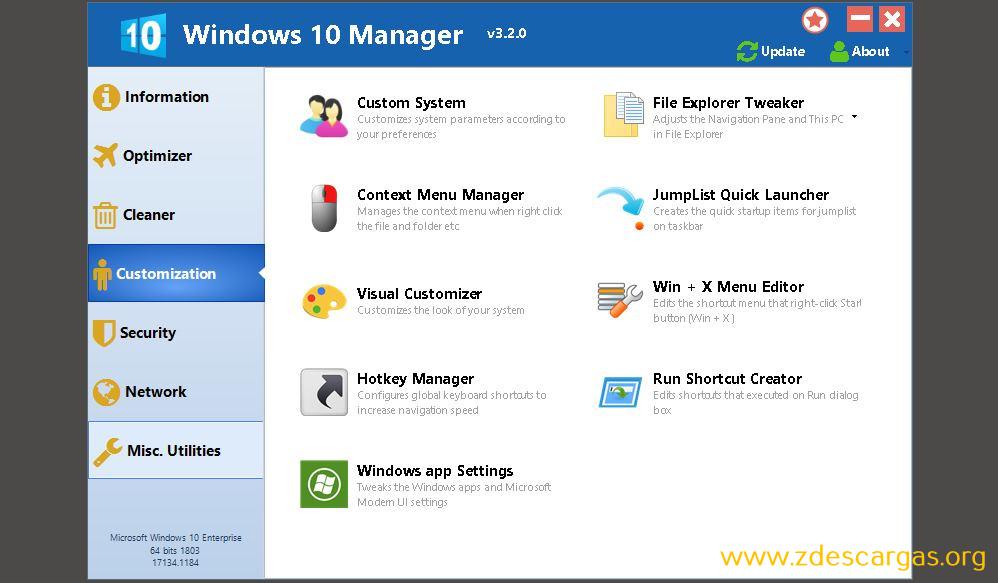Yamicsoft Windows 10 Manager Full Español