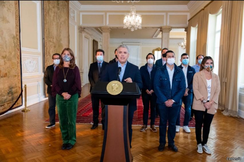El presidente Iván Duque pide retirar la Reforma Tributaria, el domingo 2 de mayo / PRESIDENCIA COLOMBIA