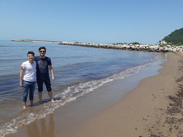 Harun İstenci Kubilay Kılıçoğlu ile birlikte Kastamonu'da Cide sahilinde. - Haziran 2019