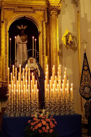 Horario e Itinerario Traslado a la Catedral de la Virgen de la Estrella en anda. Málaga 14 de Junio del 2019
