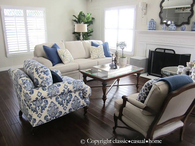 Classic Casual Home Blue White And Silver Timeless