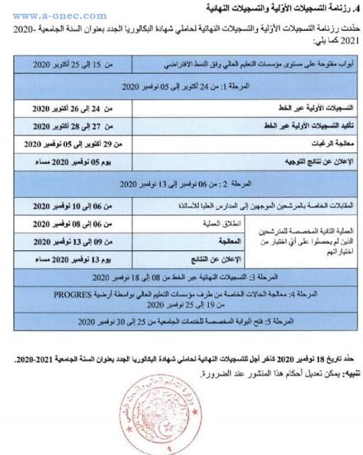 رزنامة التسجيلات الجامعية لحاملي بكالوريا 2020 - موقع التسجيلات الجامعية لبكالوريا 2020 : orientation-esi.dz