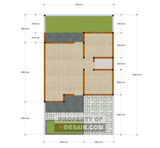 Denah Rumah Sederhana Tapi Mewah 7x12