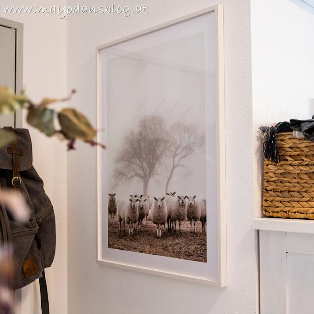 Bild mit Schafen im Vorraum