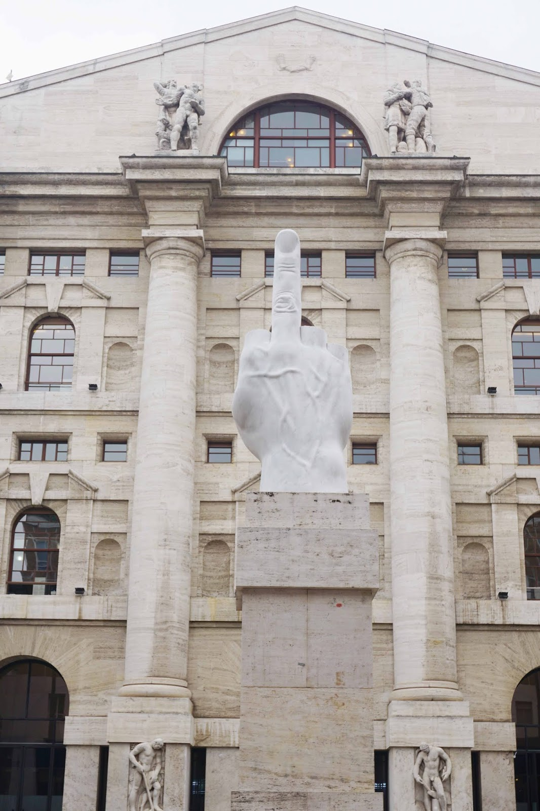 L.O.V.E by Maurizio Cattelan (Middle Finger Sculpture)