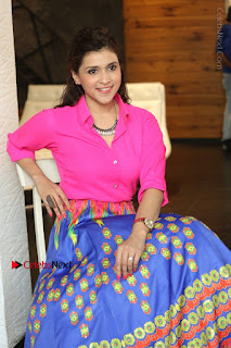 Actress Mannar Chopra in Pink Top and Blue Skirt at Rogue movie Interview  0188.JPG