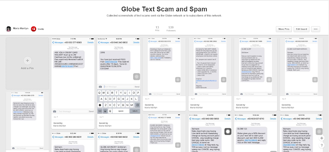 Globe Text Scam and Spam