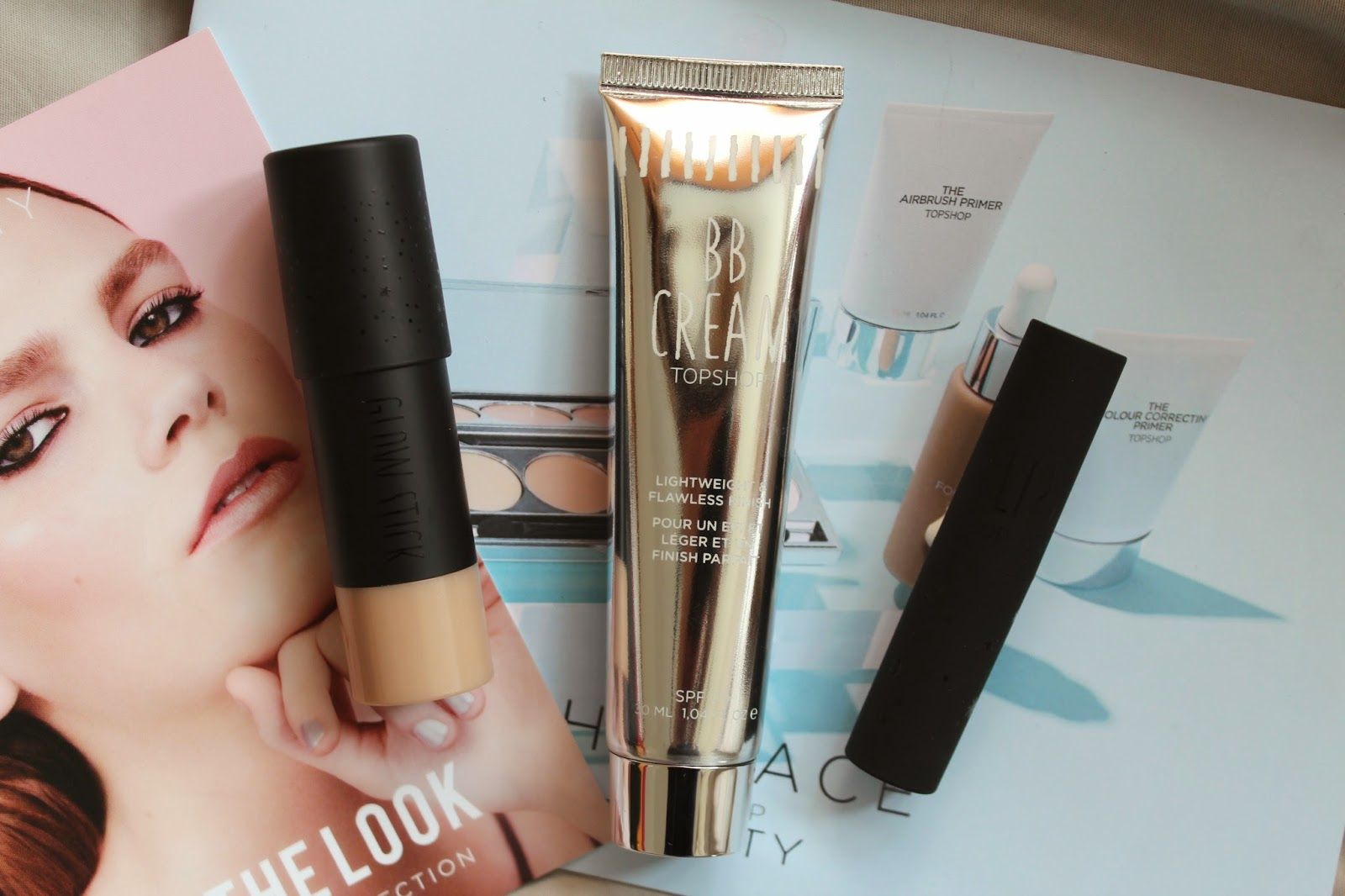 topshop bblogger bbloggers beauty make up foundation bb cream creme blemish blender highlighter glow stick play up lip sheer lipstick chuck the face make up