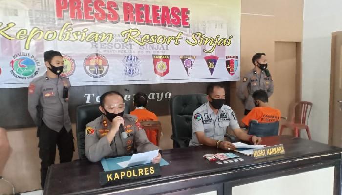 Polisi Tangkap Dua Pelaku Narkoba, Dor... 1 Ditembak