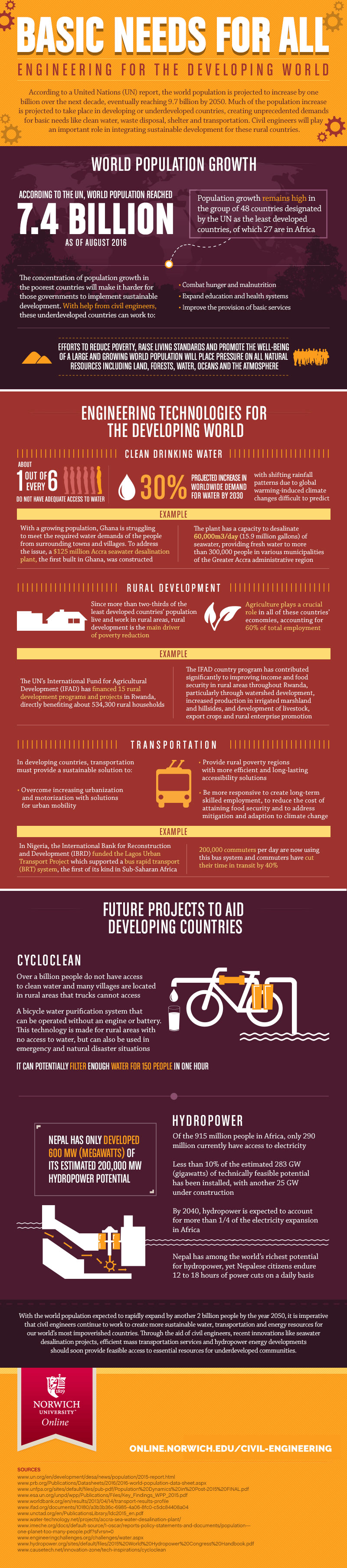 Basic Needs for All: Engineering for the Developing World #infographic