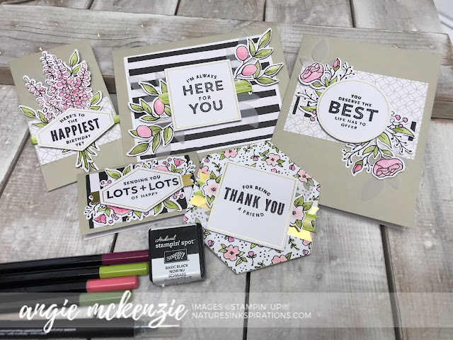 By Angie McKenzie for Stampin' Dreams Blog Hop; Click READ or VISIT to go to my blog for details! Featuring the Inclusive Lots of Happy Card Kit with two exclusive watercolor pencils available only this kit by Stampin' Up!; #watercoloring #naturesinkspirations #floralcards #nature #anyoccasioncards #simplestamping #cardkits #lotsofhappycardkit #staycalmandcolor #makingotherssmileonecreationatatime