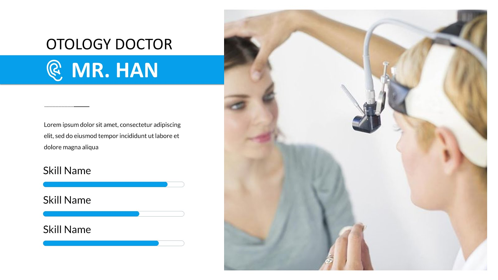 Slides about us Health powerpoint and background professional