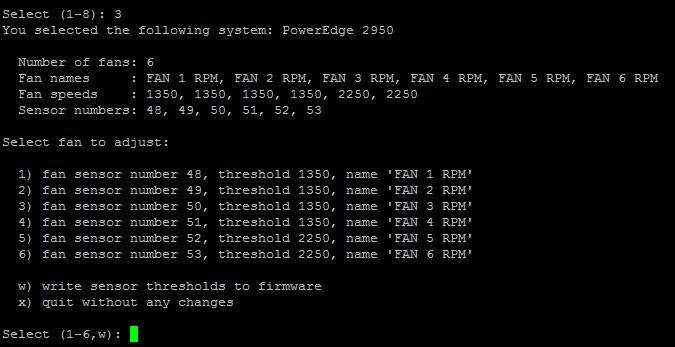 Reducing Dell PowerEdge (PE) 2950/2900/2800 II/III fan noise - Fan