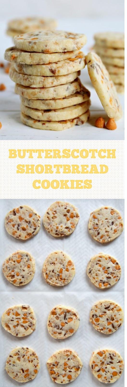 Butterscotch Shortbread Cookies