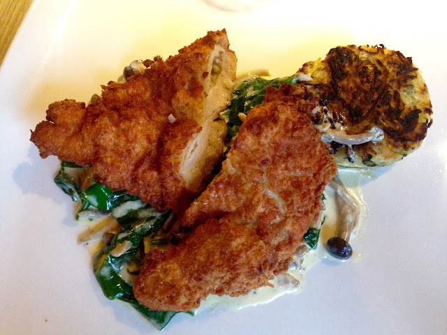 Gingey Bites review of guinea fowl kiev at the Old Bulls Head in Woodhouse Eaves