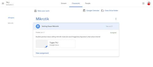 melihat tugas di google classroom