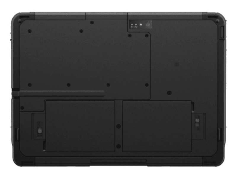 Rear side with the dual battery access