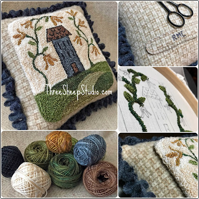 'Rolling Hills' Punch Needle Design by Rose Clay at ThreeSheepStudio.com - in 'Studio/Shop'