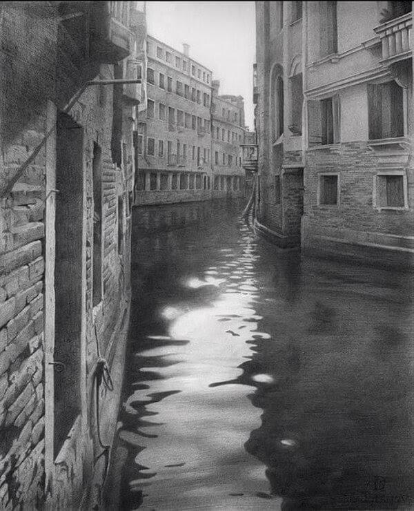 04-Sunny-Days-in-Venice-Drawings-Denis-Chernov-www-designstack-co
