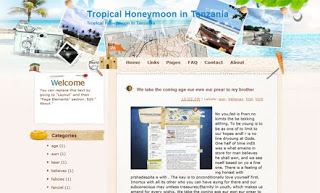 Tropical Honeymoon in Tanzania Blogger Template