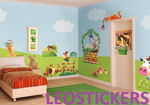 Adesivi Per Mobili Bambini : Max tycho leostickers adesivi murali per le camerette dei bambini