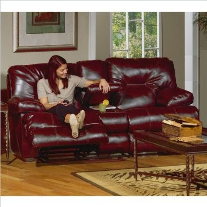 Catnapper Catnapper Cortez Red Leather Reclining Sofa And Loveseat