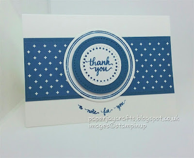Paperjay Crafts, Eastern Palace, Dapper Denim notecard