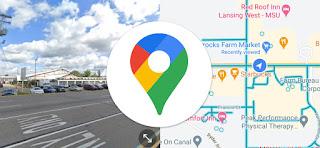 fitur split screen pada google maps