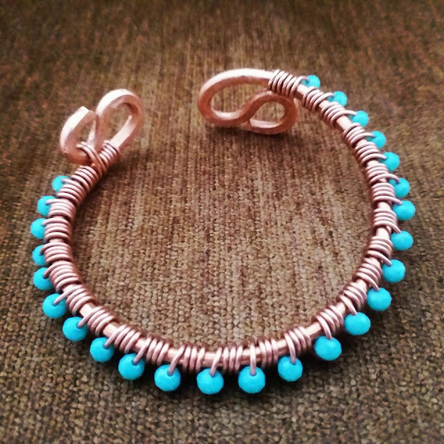 Copper Bracelets/Bangles, Wire Wrapped Jewellery, Copper Jewelry