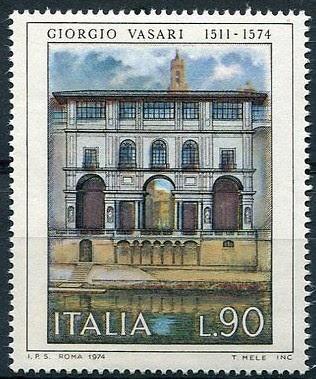 Italy 1974 Stamp 1208, Museum Of Offices Par Giorgio Vasari