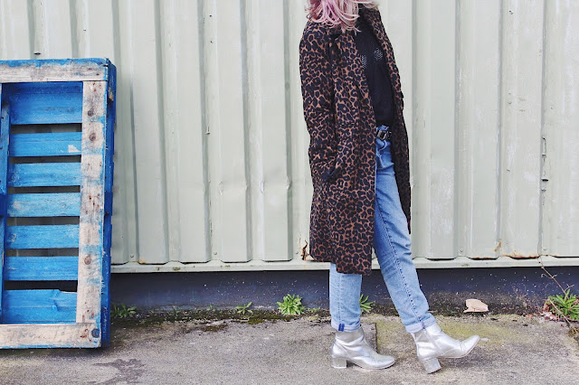 leopardprintcoat, coat, spring, denim