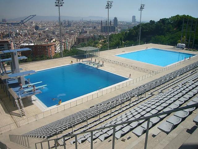 piscinas em Montjuïc - Barcelona