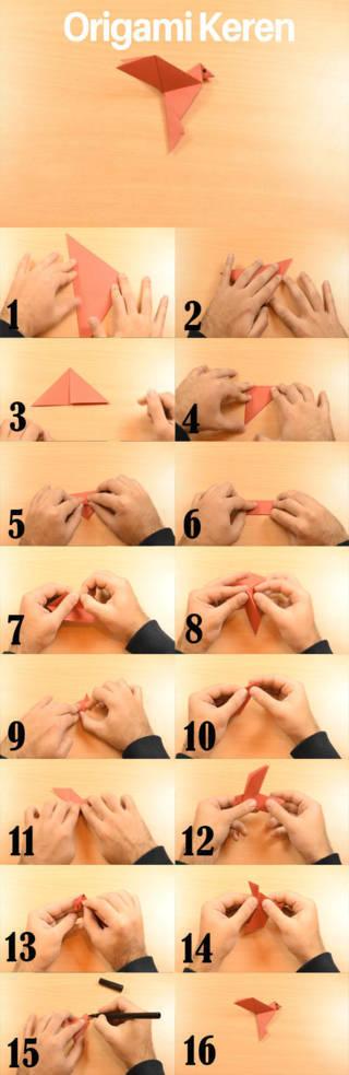 kreasi kertas lipat sederhana