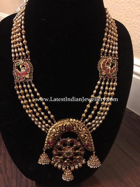 Antique Gundlamala with Different Pendant