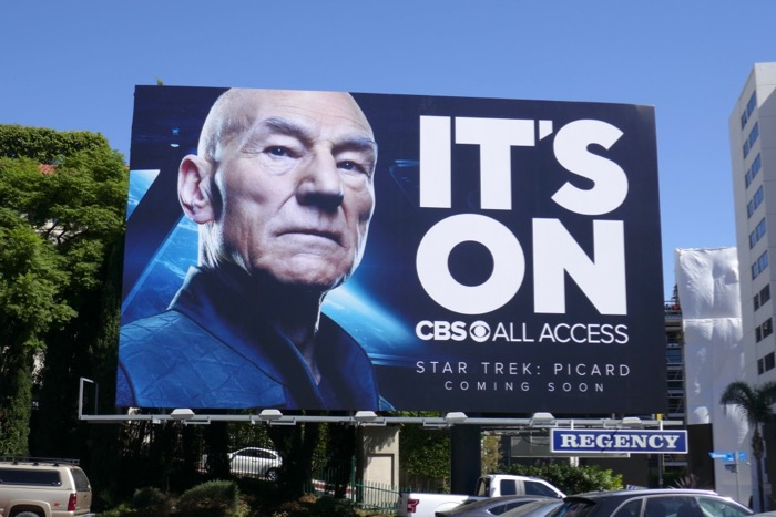 Star Trek Picard Its On CBS All Access billboard