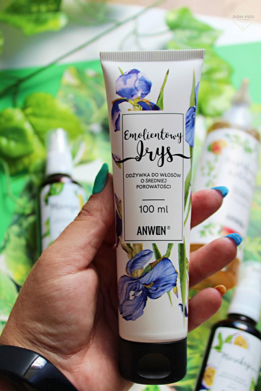 Anwen, odżywka do włosów średnioporowatych, Emolientowy Irys