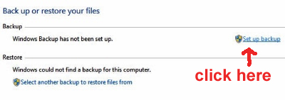 how to back up files in Windows 7