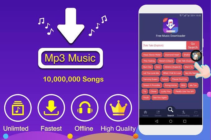 application download songs free music downloader