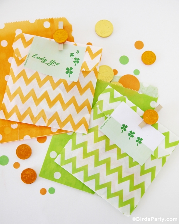 St Patrick's Day | 3 Easy Party Favor Ideas - BirdsParty.com