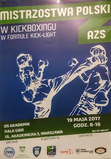 Adam Hirko, sport, kickboxing, AZS, Uniwersytet Zielonogórski, Akademickie Mistrzostwa Polski 2017, PZKB, Bogumił Połoński, kick light, męski sport