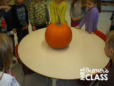 Lots of fall pumpkin activities for Kindergarten!