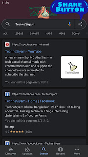 sharing google search result screenshot by technesiyam