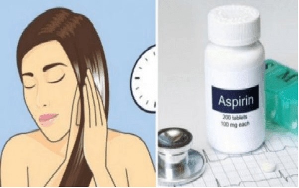 Κάνει την ασπιρίνη σκόνη και τη βάζει στα μαλλιά