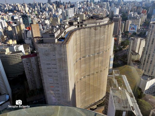 Vista superior do famoso Edifício Copan - República - São Paulo